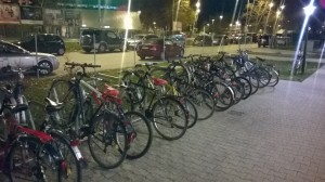 Fahrräder im Neckarpark