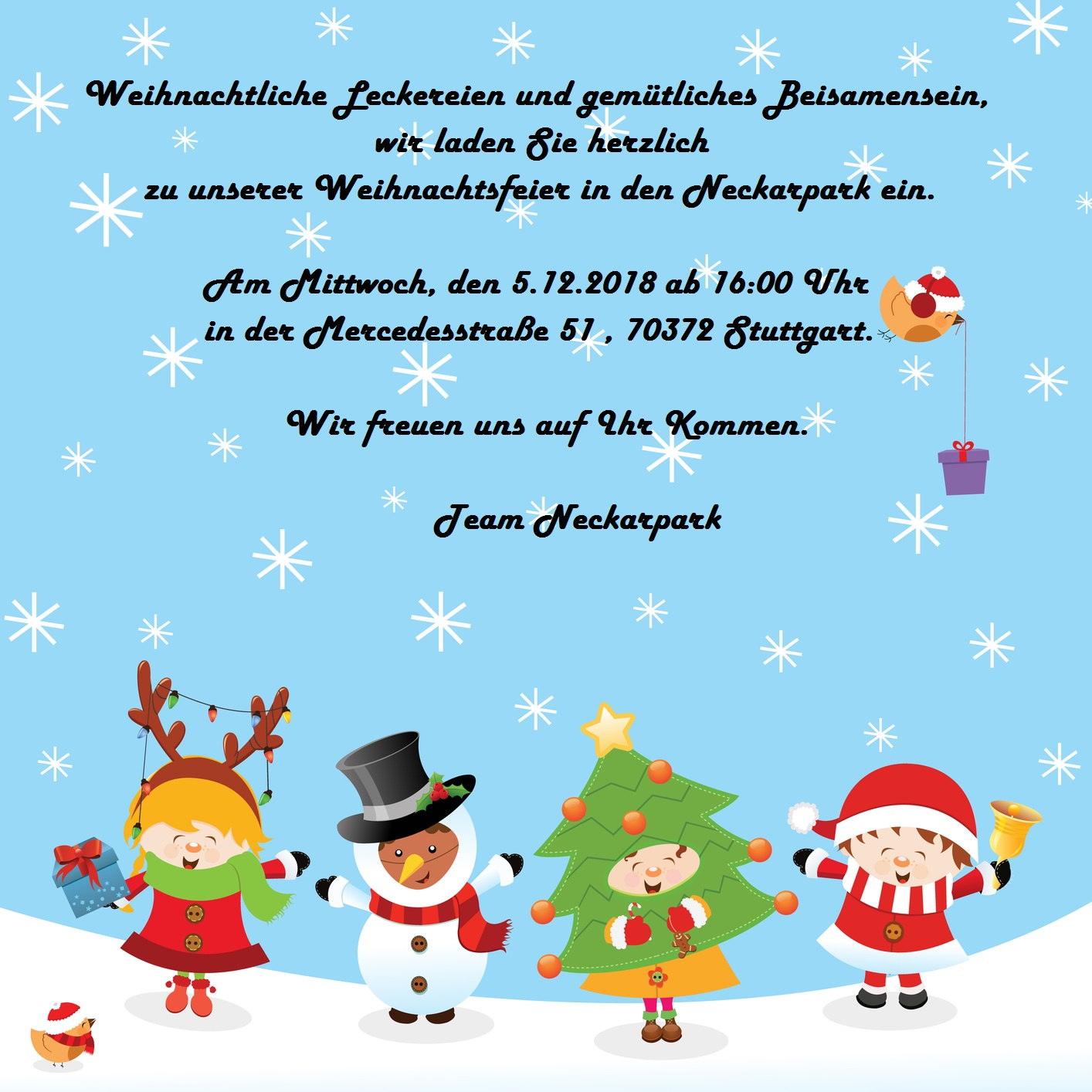 Weihnachtsfeier | Freundeskreis Neckarpark